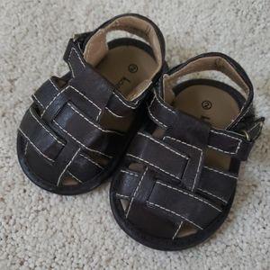 Koala Baby baby boy brown leather sandals